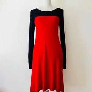 Kensie Colorblock Sweater Dress S/M